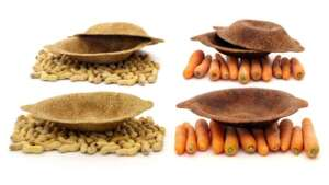 Ecostoviglie fatte di bucce di carota e gusci di arachidi